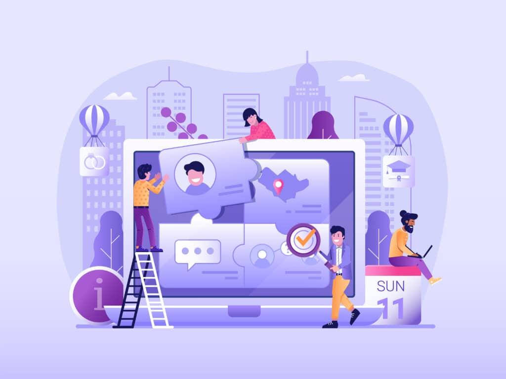Illustration représentant les personas dans une stratégie d'inbound marketing