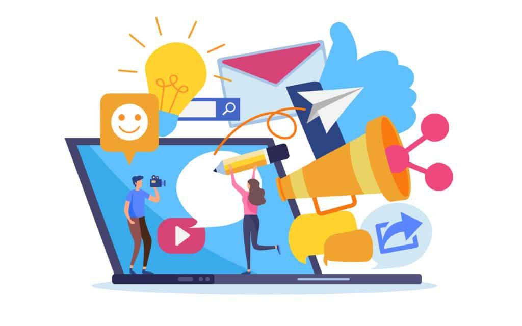 Image illustrant le Content Marketing sur les réseaux sociaux