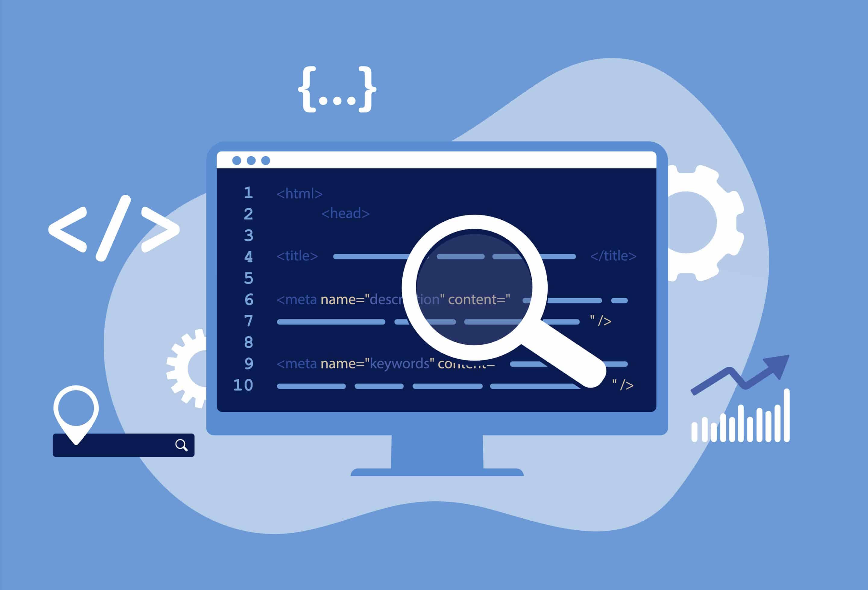 Illustration montrant les meta-données HTML pour le SEO
