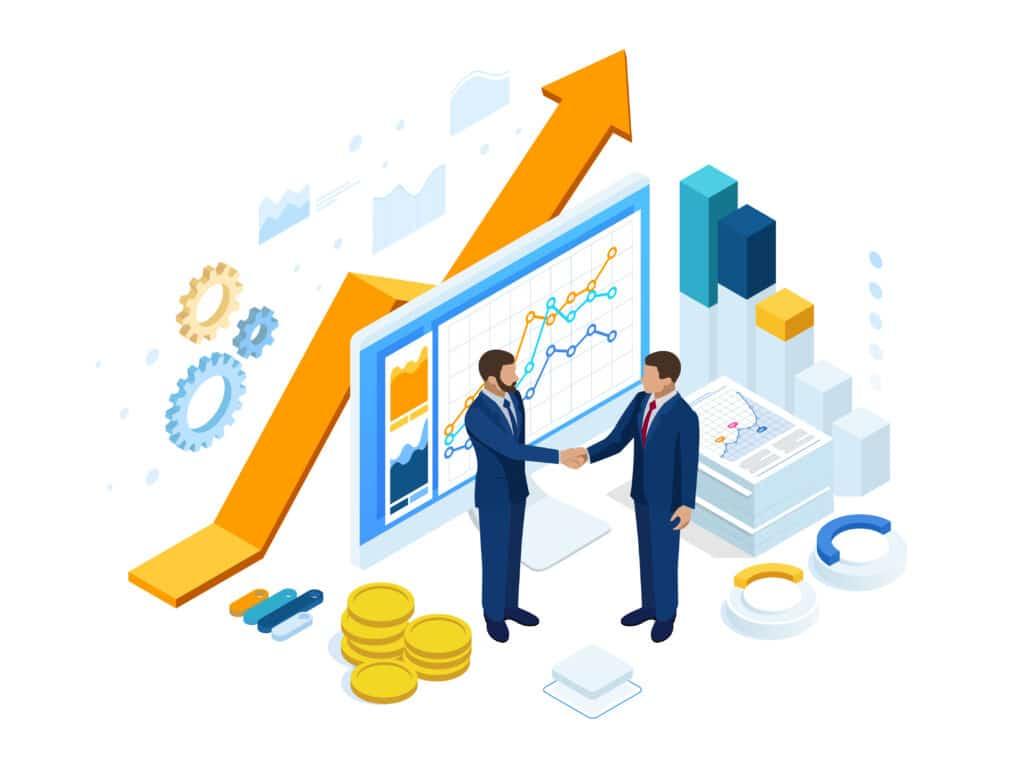 Transactions commerciales entre 2 hommes d'affaires
